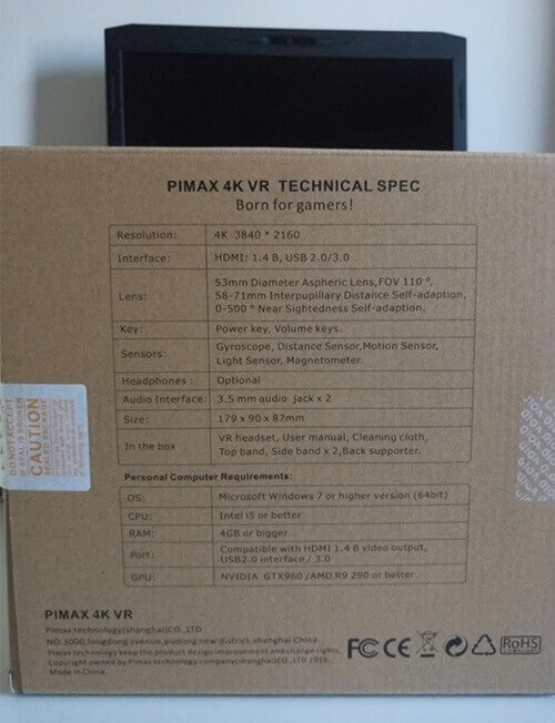 31ae289a5ecf Review  PIMAX 4K HMD VR Headset With Coupon: LHPIMAX for  359 ...